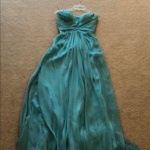 La Femme turquoise prom dress